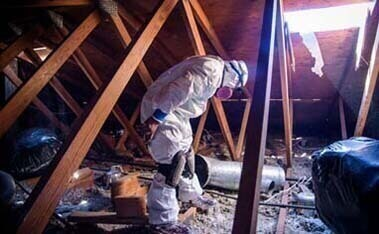attic insulation and cleanup for home or loft